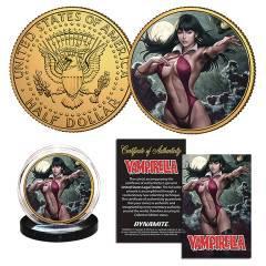 VAMPIRELLA #4 STANLEY ARTGERM LAU COLL COIN