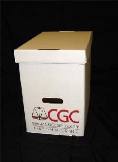 COMIC BOX SHORT GRADED MAGAZINE STORAGE BOX