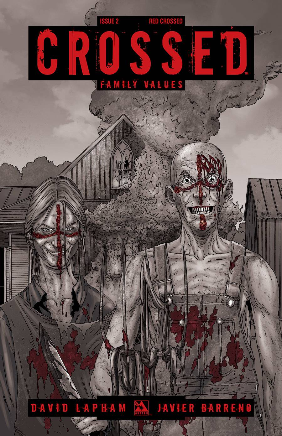 CROSSED FAMILY VALUES RED CROSSED VAR
