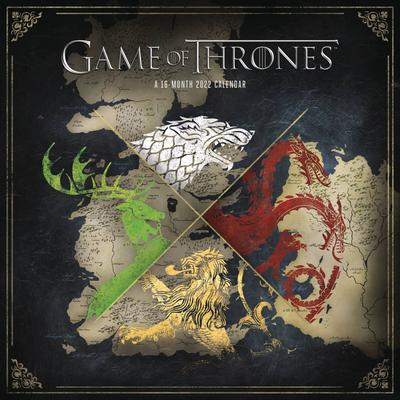 GAME OF THRONES 16 MONTH 2022 WALL CALENDAR