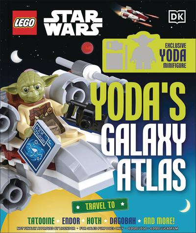 LEGO STAR WARS YODAS GALAXY ATLAS HC W MINIFIGURE