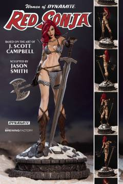 WOMEN DYNAMITE RED SONJA STATUE