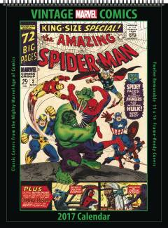 VINTAGE MARVEL COMICS 2017 12 MONTH WALL CALENDAR