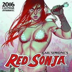 GAIL SIMONE RED SONJA 2016 WALL CALENDAR