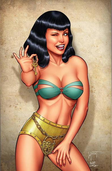 BETTIE PAGE & CURSE OF THE BANSHEE CVR N MYCHAELS LTD VIRGIN