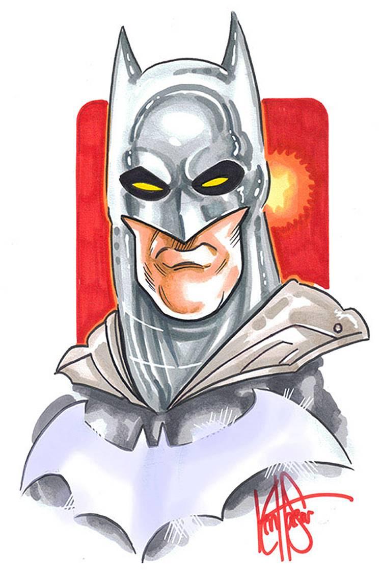 BATMAN #100 HAESER SGN & RMRK