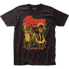 DAVID BOWIE 1972 WORLD TOUR T/S LG