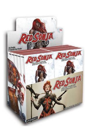 RED SONJA SHE DEVIL DLX PREMIUM CARDS DIS