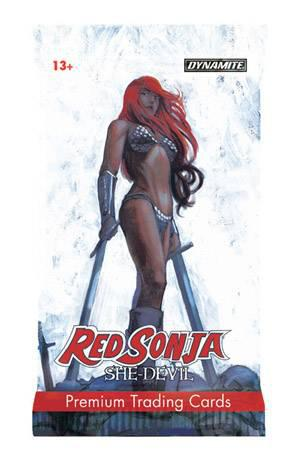 RED SONJA SHE DEVIL DLX PREMIUM CARDS FOIL PACK