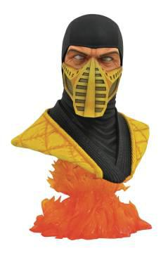 MORTAL KOMBAT 11 LEGENDS IN 3D SCORPION 1/2 SCALE BUST