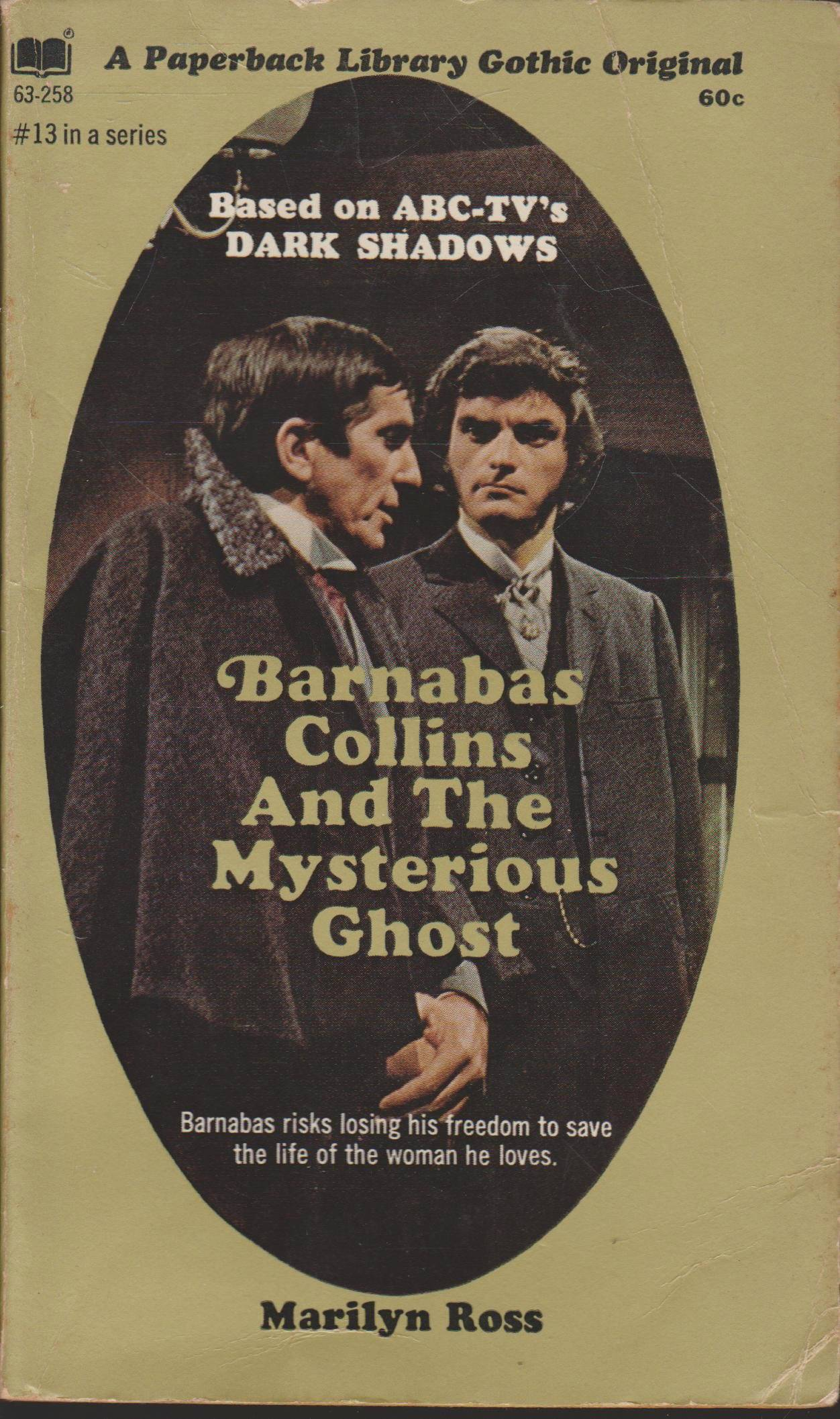 DARK SHADOWS PAPERBACK LIBRARY NOVEL 13 MYSTERIOUS GHOST