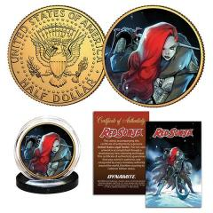 RED SONJA ANDOLFO GOLD COLL COIN