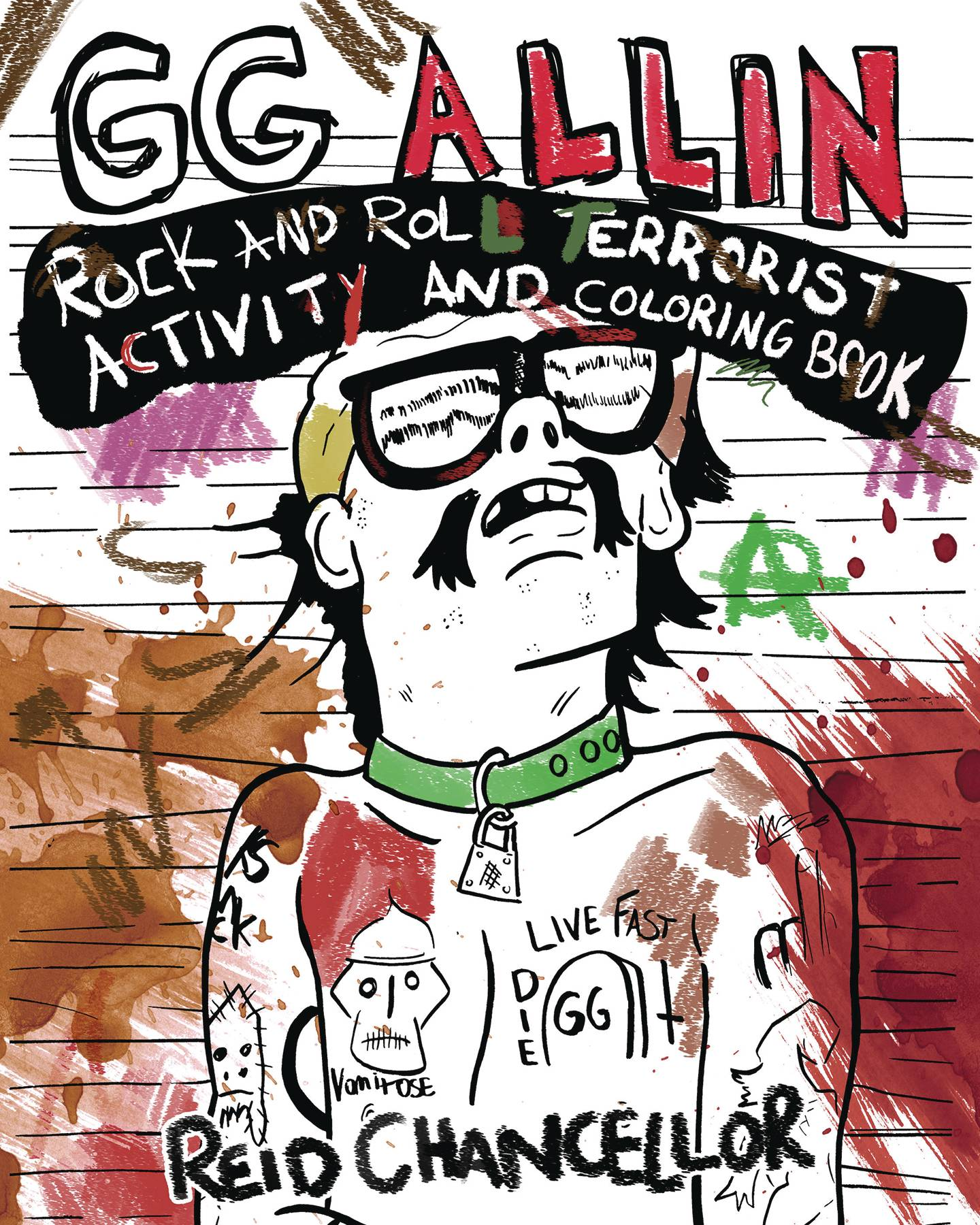 GG ALLIN ROCK & ROLL TERRORIST ACTIVITYAND COLORING BOOK