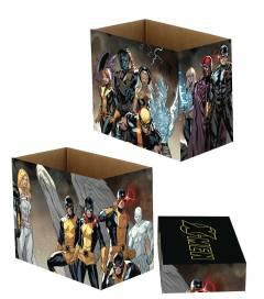 MARVEL COMICS X MEN TEAMS 5 PK SHORT COMIC STORAGE BOX