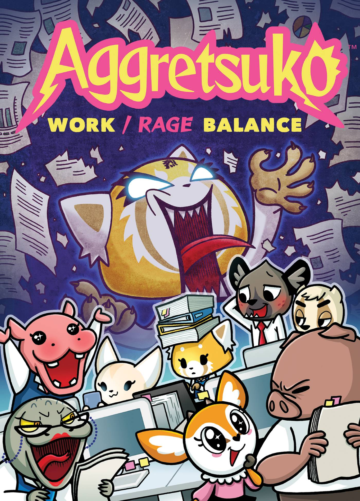 AGGRETSUKO WORK RAGE BALANCE CARD GAME