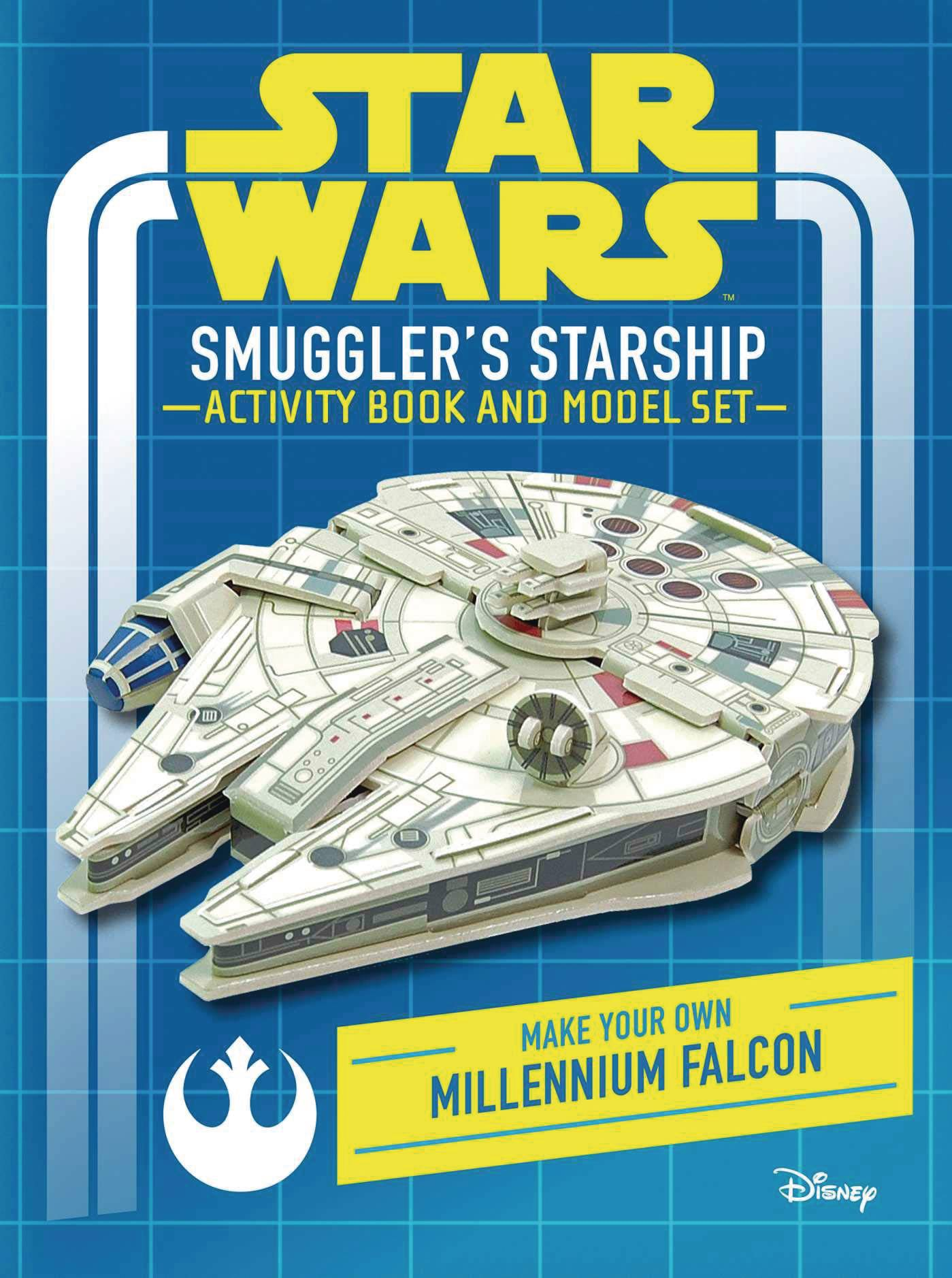 STAR WARS SMUGGLERS STARSHIP ACTIVITY BOOK & MODEL HC