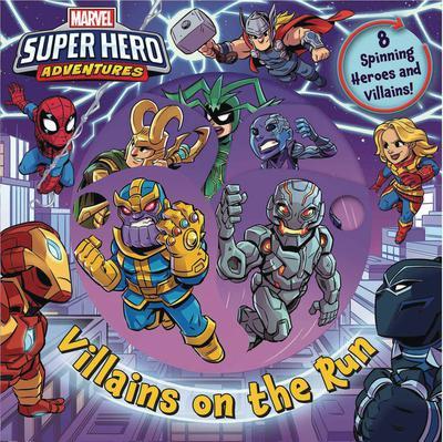 MARVEL SUPER HERO ADV VILLAINS ON THE RUN BOARD BOOK