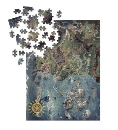 WITCHER WILD HUNT WORLD MAP DELUXE PUZZLE