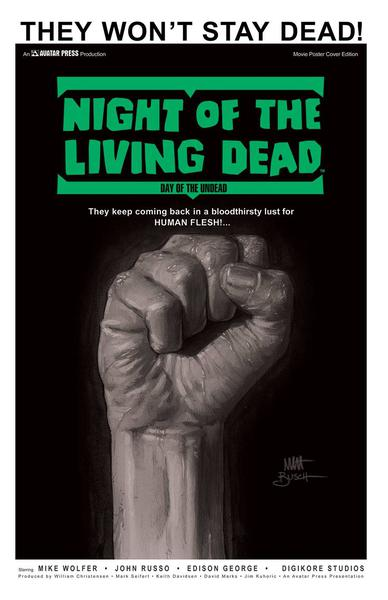 NIGHT LIVING DEAD DAY OF THE DEAD MOVIE POSTER ED