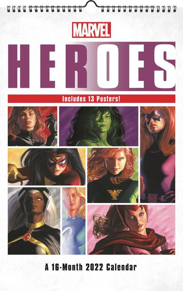MARVEL HEROES 2022 OVERSIZED POSTER WALL CAL