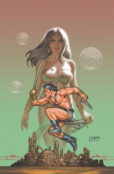 DEJAH THORIS VS JOHN CARTER OF MARS CVR M LINSNER LTD VIRGIN