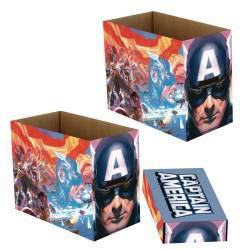 MARVEL CAPTAIN AMERICA PATRIOT  SHORT COMIC STORAGE BOX