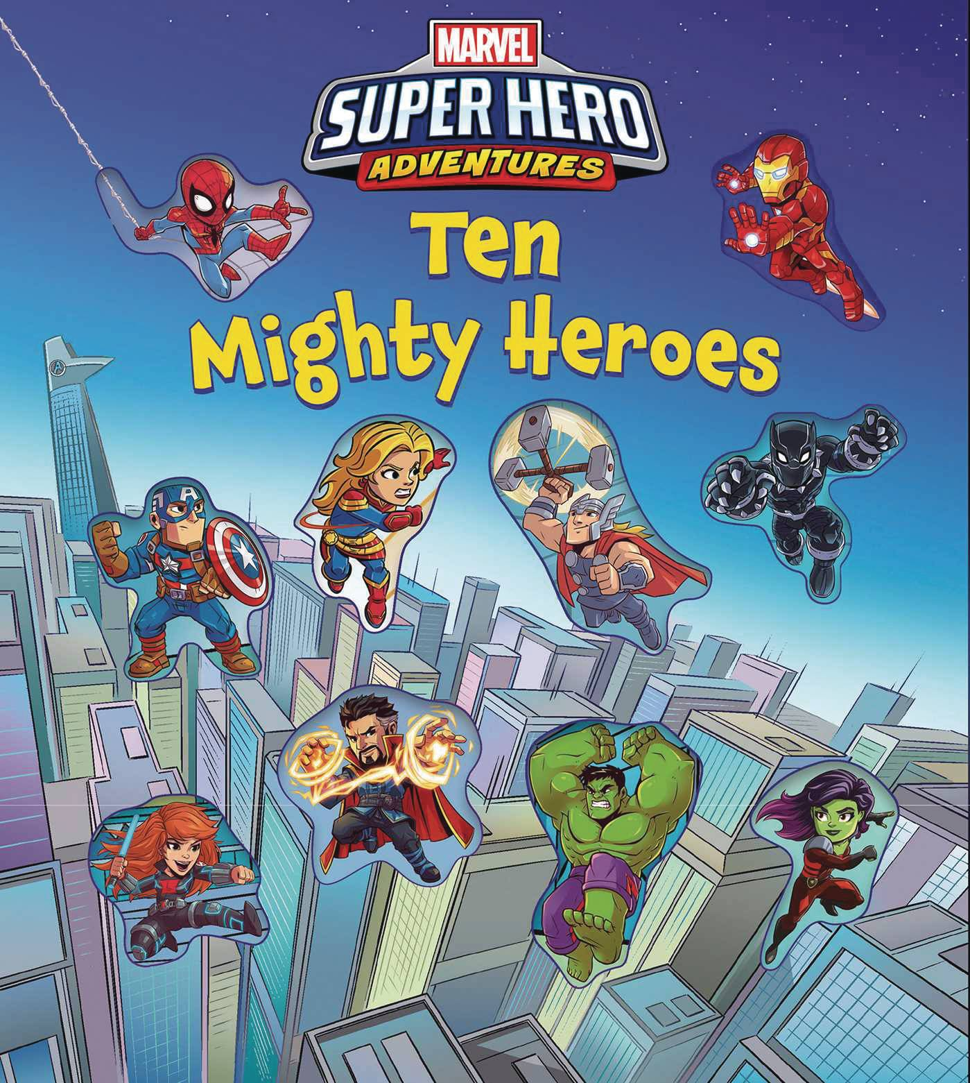 MARVEL SUPER HERO ADVENTURES TEN MIGHTY HEROES BOARD BOOK