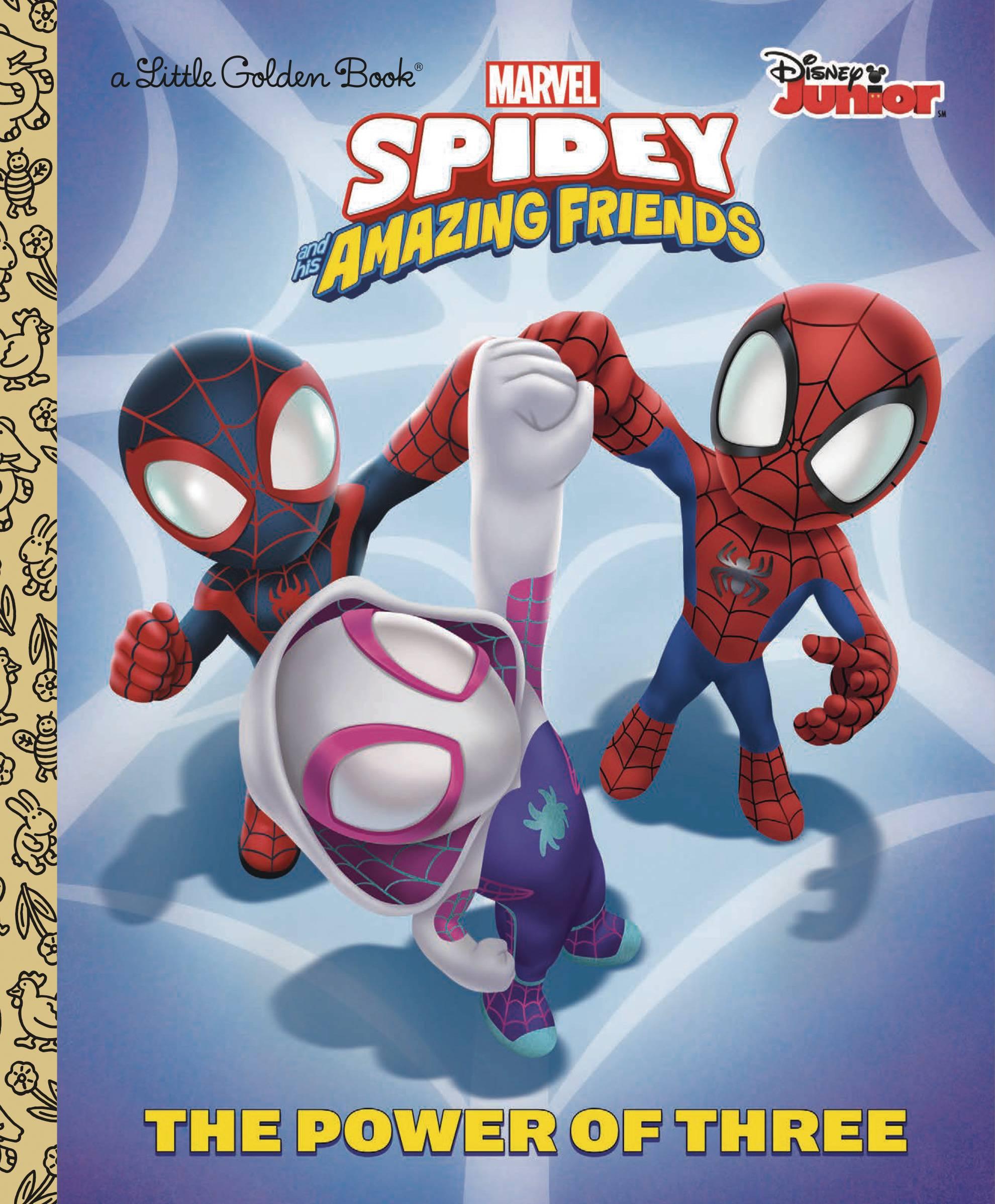 SPIDER-MAN & HIS AMAZING FRIENDS POWER OF 3 GOLDEN BOOK