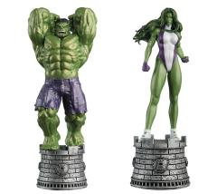 MARVEL CHESS FIG COLL MAG SPECIAL HULK & SHE-HULK