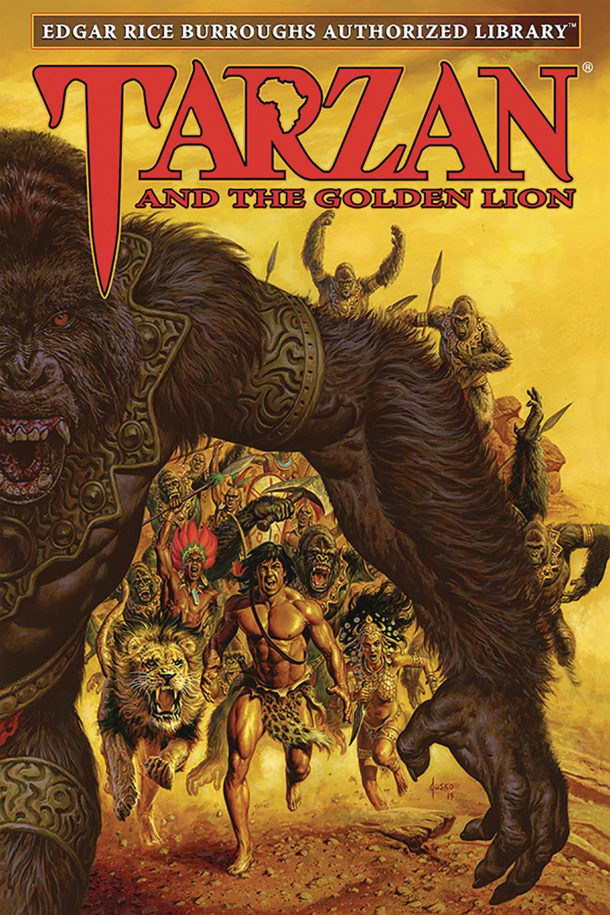 ERB AUTH LIB TARZAN HC 09 TARZAN & GOLDEN LION