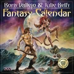 BORIS VALLEJO JULIE BELL FANTASY 2021 WALL CAL