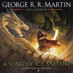 GEORGE RR MARTIN SONG ICE & FIRE 2021 WALL CAL