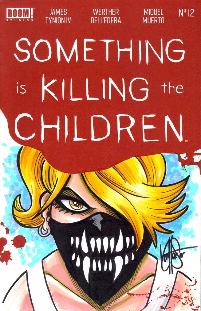 DF SOMETHING IS KILLING CHILDREN #12 HEASER SGN & REMARKED