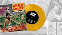 MIND MGMT COMIC BOOK AND READ ALONG SIGNED GREEN VINYL RECORD