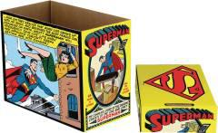 DC COMICS SUPERMAN COMIC PANEL SHORT COMIC STORAGE BOX