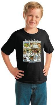 FCBD 2020 COMM ARTIST BROWN BLK YOUTH T/S LG