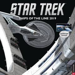 STAR TREK SHIPS OF LINE 2019 WALL CALENDAR