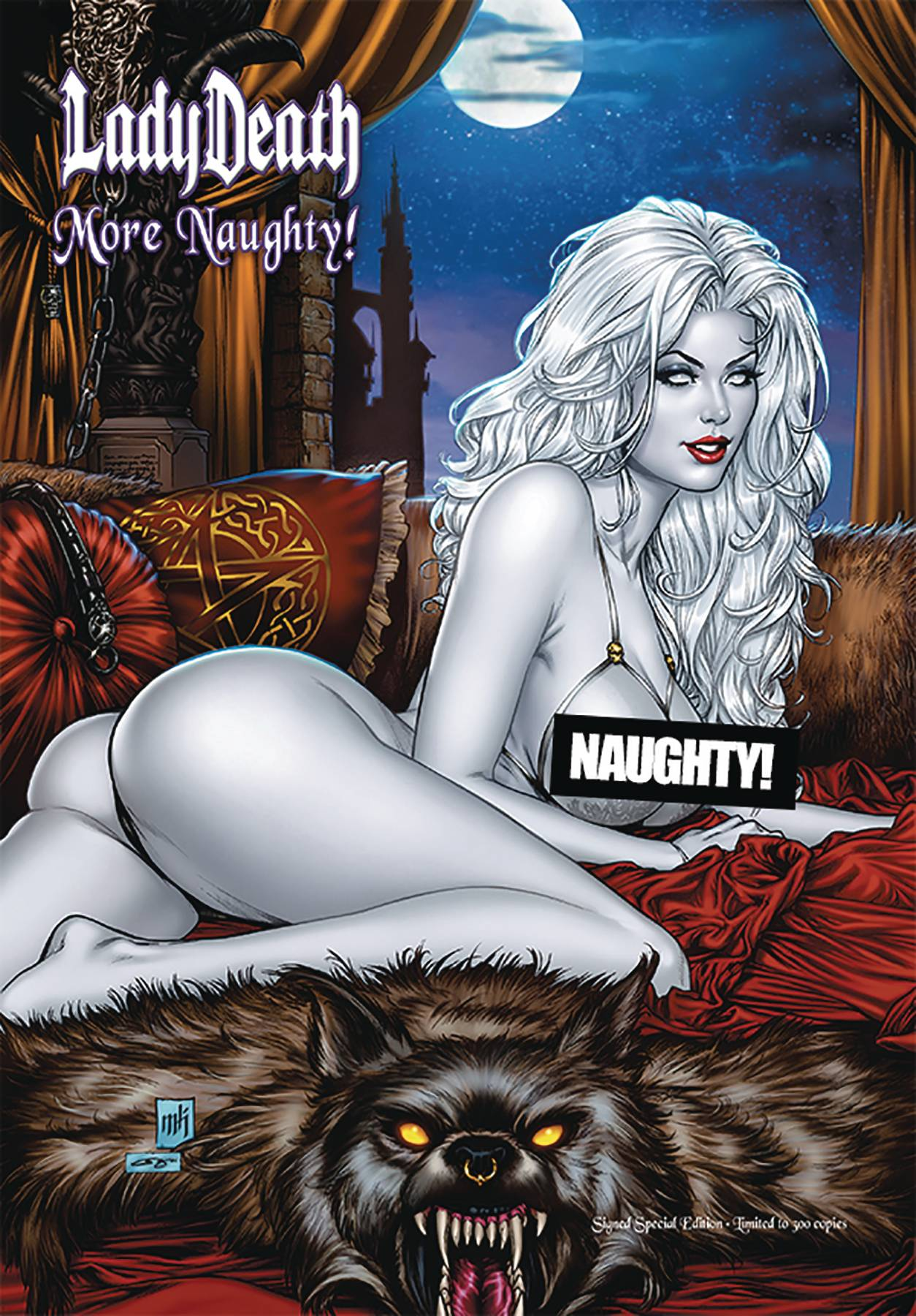 LADY DEATH MORE NAUGHTY ARTBOOK SGN SPECIAL ED HC