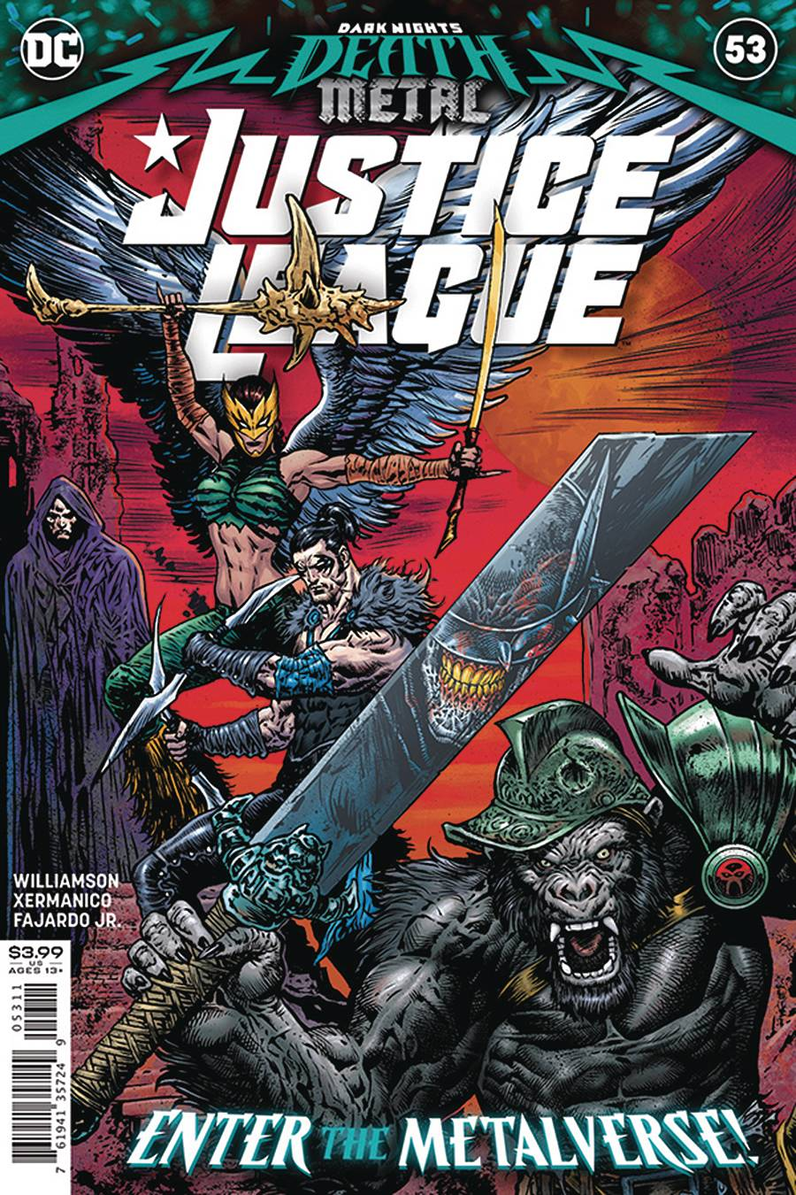 DF JUSTICE LEAGUE #53 COVER A SHARP SGN