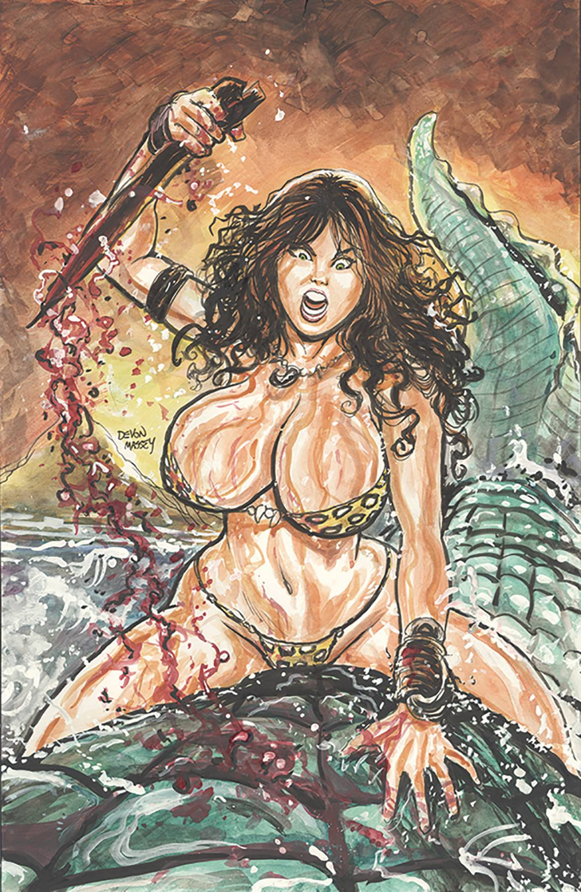 CAVEWOMAN GONE FISHING ONE SHOT CVR A MASSEY