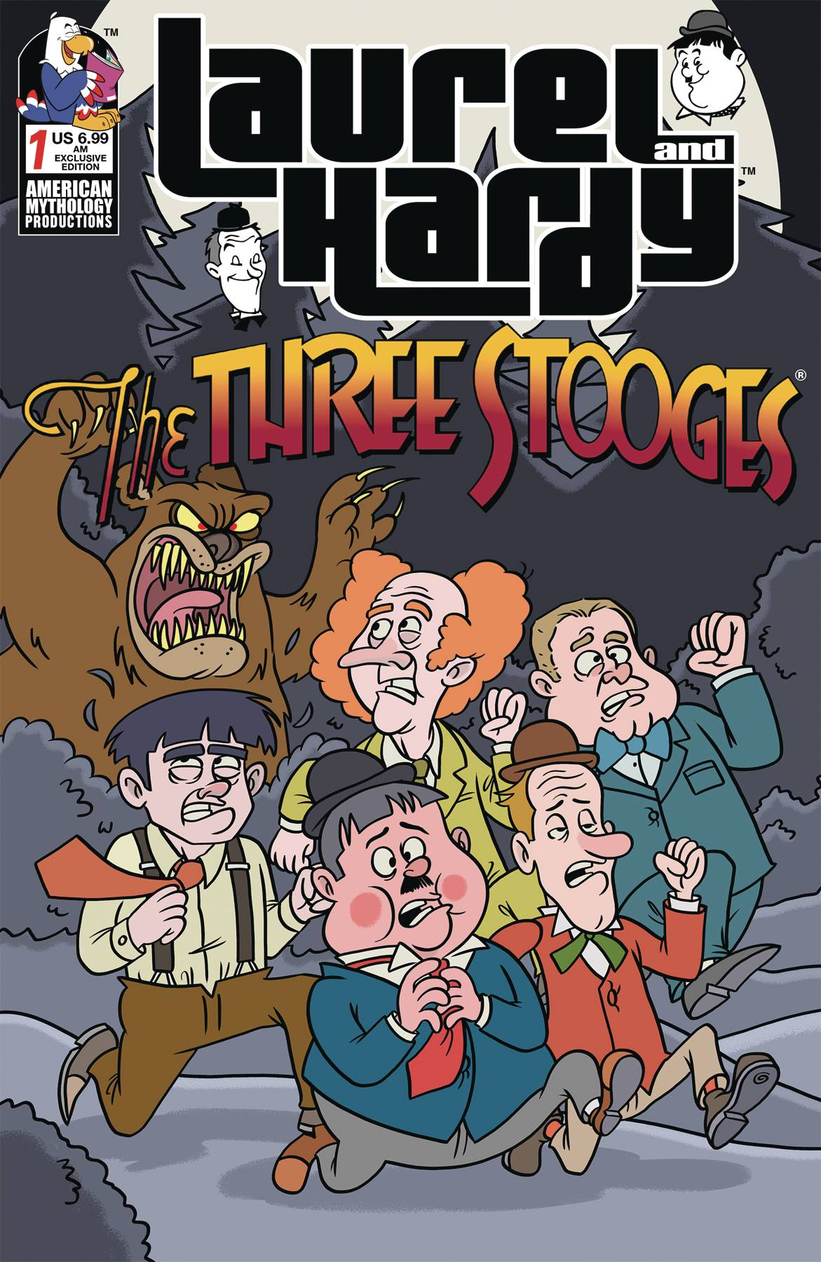 LAUREL & HARDY MEET THREE STOOGES AM EXC