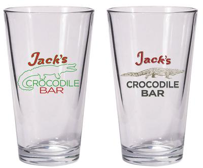 AMERICAN GODS JACKS CROCODILE BAR PINT GLASS SET