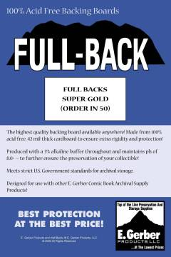 BACKING BOARDS FULL BACKS SUPER GOLD
