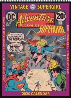VINTAGE DC COMICS SUPERGIRL 2020 WALL CALENDAR