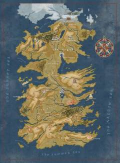 GAME OF THRONES CERSEI WESTEROS MAP PUZZLE