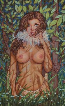 CAVEWOMAN DOUBLE FEATURE ONE SHOT CVR F VALENTINA NUDE