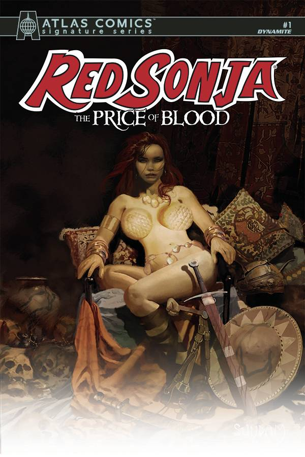 RED SONJA PRICE OF BLOOD ATLAS SGN ED