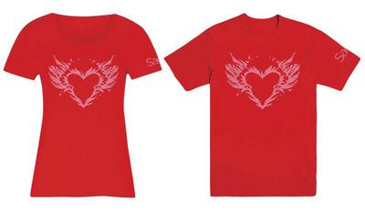 SAGA BURNING HEART WOMENS LG T/S