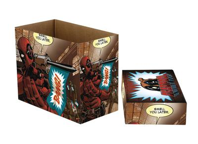 MARVEL COMICS DEADPOOL BANG 5 PK SHORT COMIC STORAGE BOX