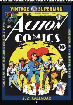 VINTAGE DC COMICS SUPERMAN 2021 WALL CALENDAR